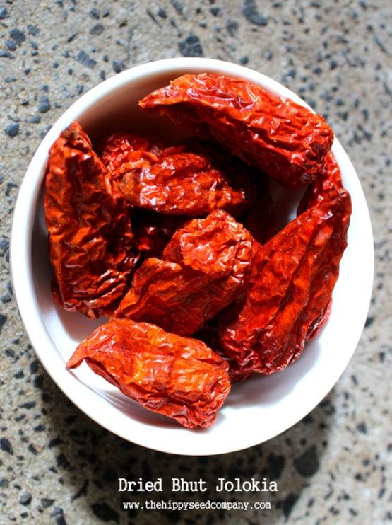 Dried Bhut Jolokia