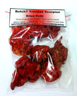 Dried Butch T Scorpion Peppers